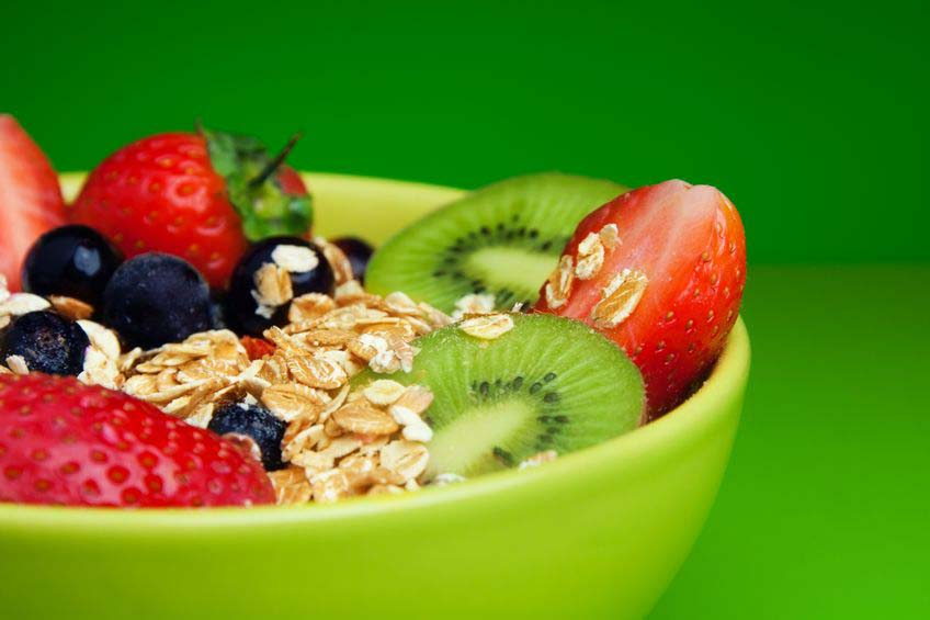 13948367 - bowl with muesli and fresh berries and fruits